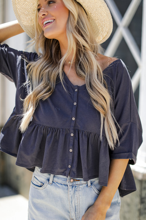 Charcoal - Babydoll Tee from Dress Up