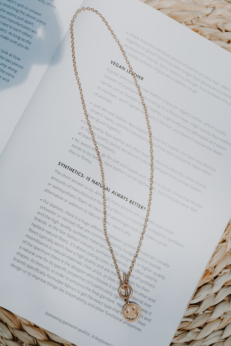 Gold - Smiley Chain Necklace