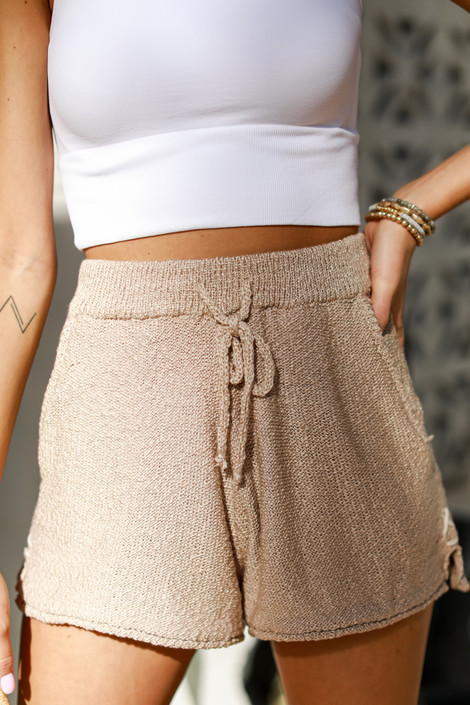 Taupe - Knit Shorts