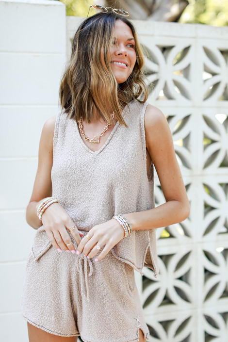 Taupe - Knit Tank from Dress Up