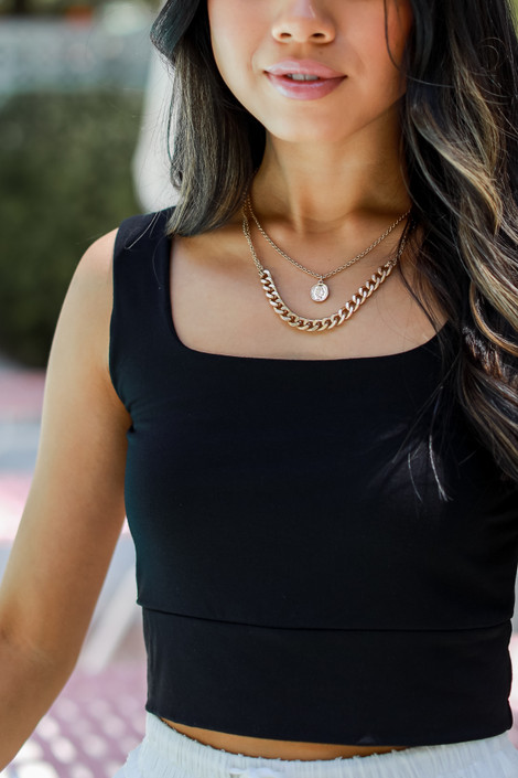Black - Everyday Cropped Tank from Dress Up