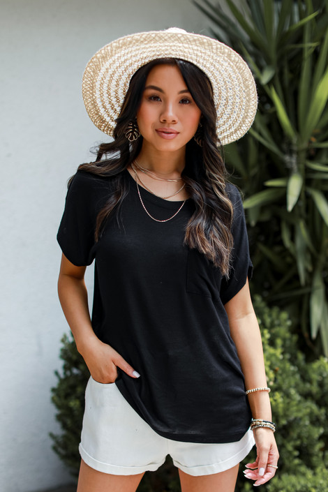 Black - Luxe Knit Tee