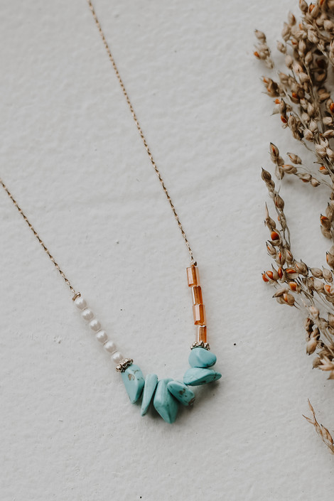 Teal - Beaded Necklace from Dress Up