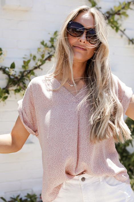Blush - Spotted Blouse from Dress Up