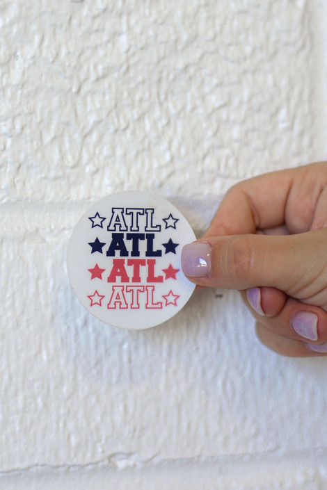 White - Small ATL Star Sticker from Dress Up