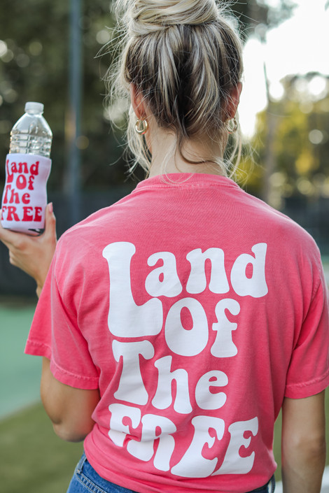 Coral - Land Of The Free Graphic Tee