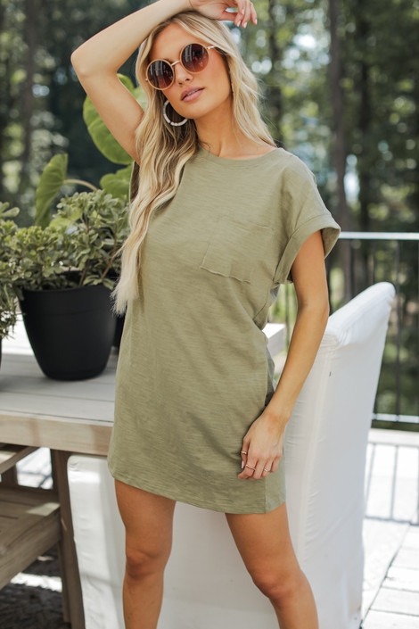 Olive - Everyday T-Shirt Dress from Dress Up