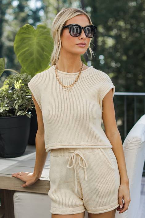 Ivory - Knit Top from Dress Up