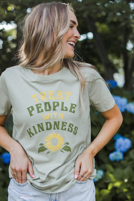 Sage - Treat People With Kindness Graphic Tee