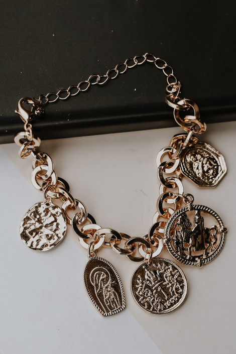 Gold - Coin Bracelet from Dress Up