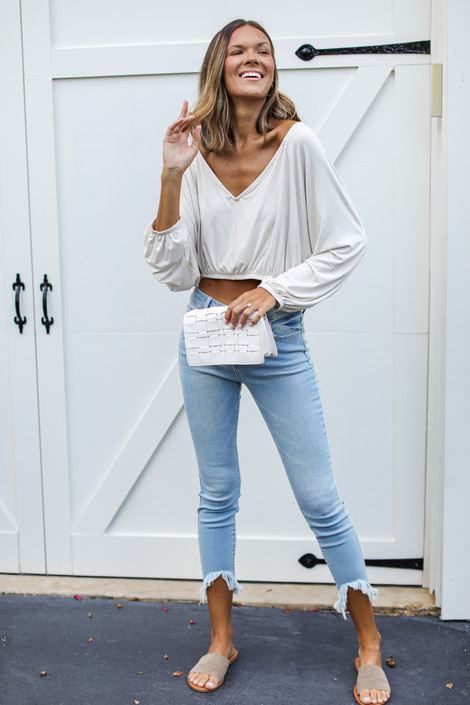 Light Wash - High-Rise Skinny Jeans from Dress Up