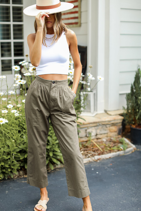Olive - Trouser Pants from Dress Up