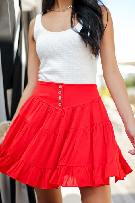 Red - Mini Skirt from Dress Up