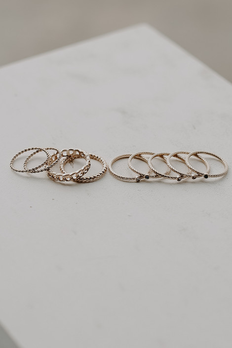 Gold - Gold Ring Set from Dress Up