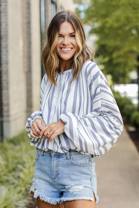 Ivory - Striped Blouse