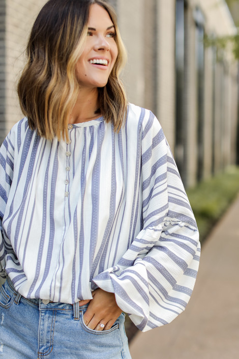 Ivory - Striped Blouse from Dress Up