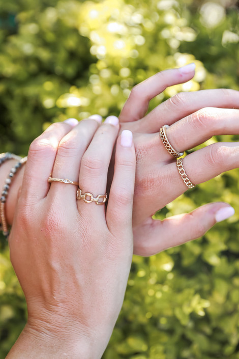 Gold - Chain Ring Set