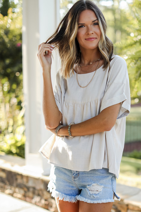 Natural - Babydoll Blouse from Dress Up
