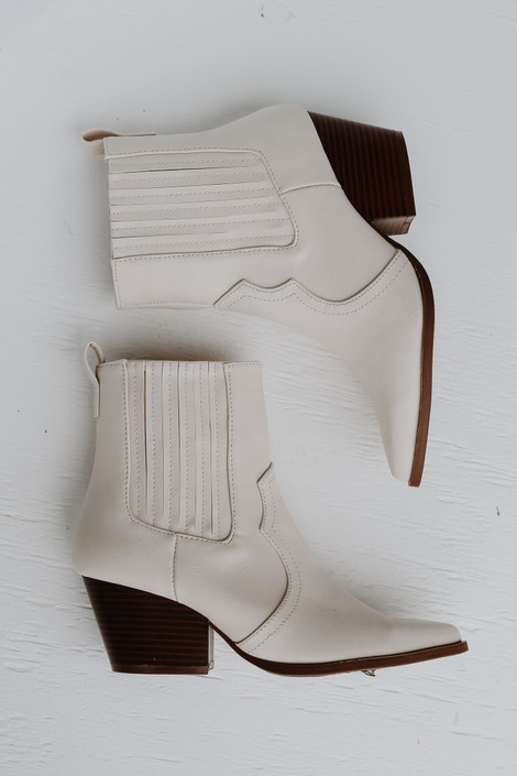 Ivory - Pointed Toe Booties from Dress Up