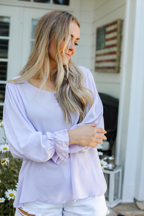 Lilac - Flounce Sleeve Blouse from Dress Up