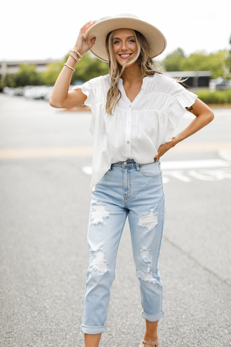 Light Wash - High-Rise Mom Jeans