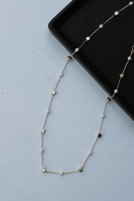 Gold - Pearl Necklace from Dress Up
