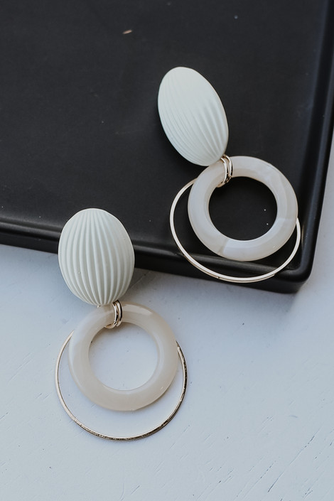 Ivory - Statement Drop Earrings from Dress Up