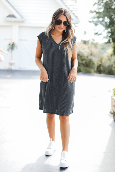 Charcoal - Corded Midi Dress from Dress Up