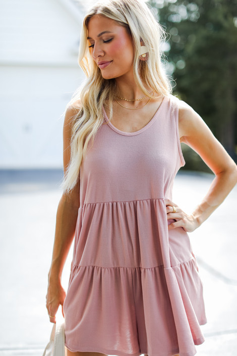 Mauve - Tiered Romper from Dress Up
