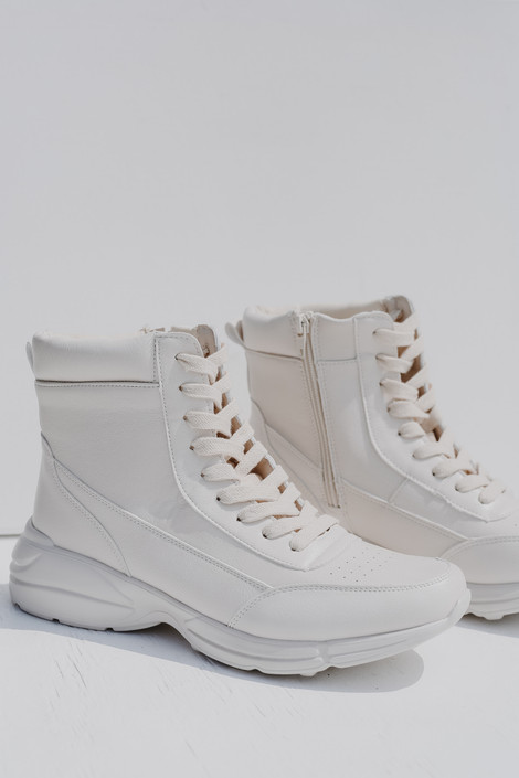 Ivory - High Top Platform Sneakers from Dress Up