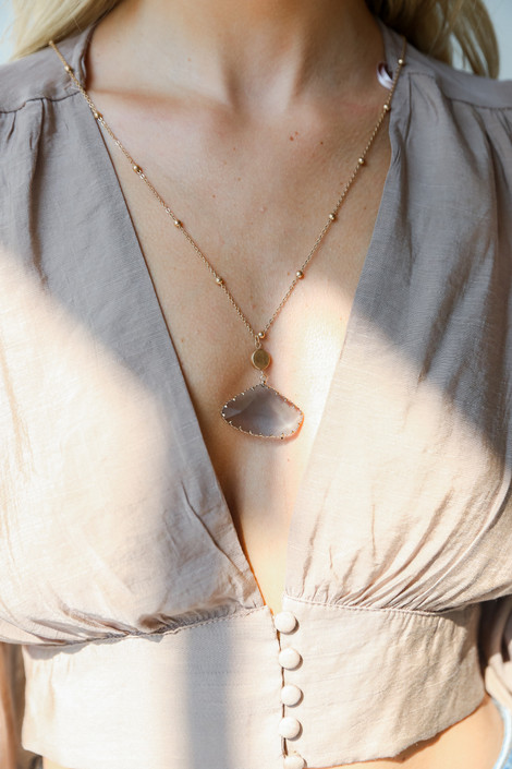Gold - Stone Necklace