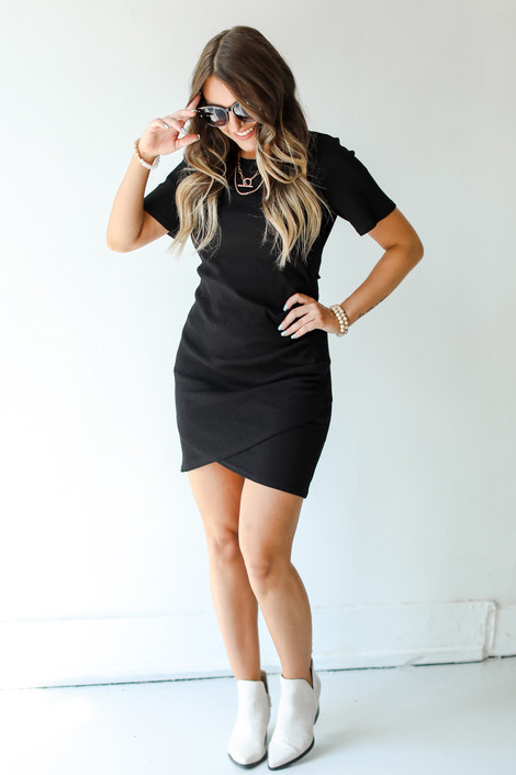 Black - Ribbed Dress from Dress Up