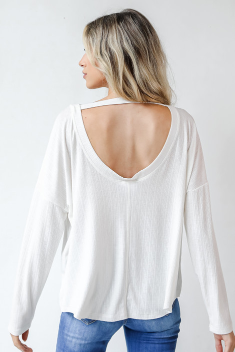 White - Open Back Top from Dress Up