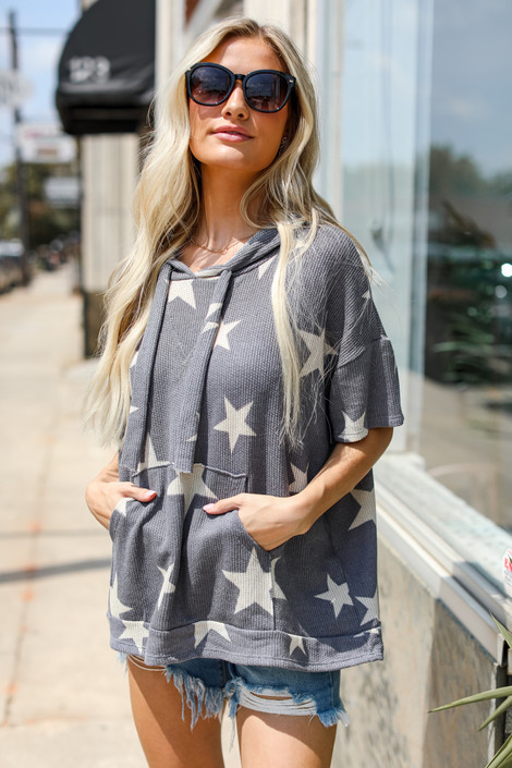 Grey - Star Hoodie from Dress Up