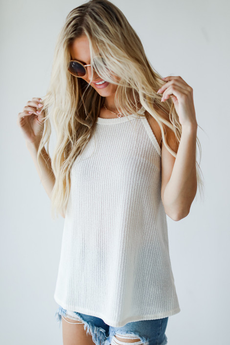 Ivory - Everyday Ribbed Tank from Dress Up