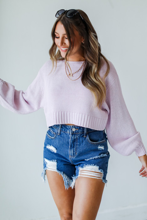 Lavender - Cropped Sweater