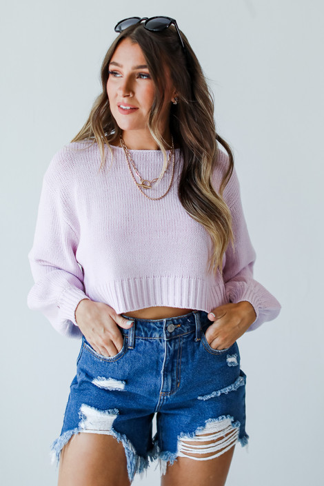 Lavender - Cropped Sweater from Dress Up