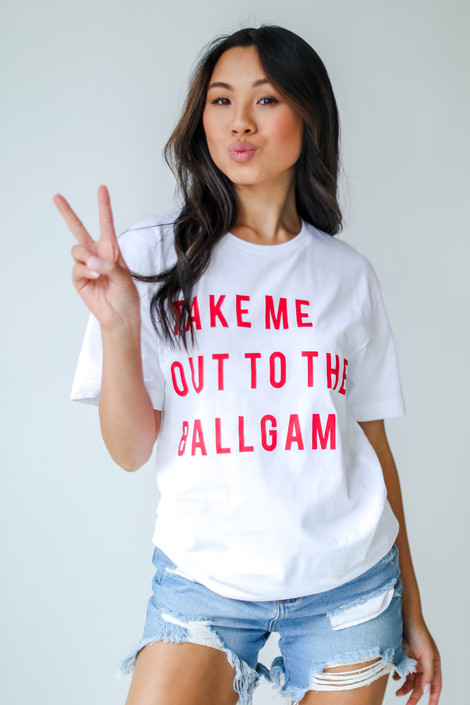 White - Take Me Out To The Ballgame Tee from Dress Up