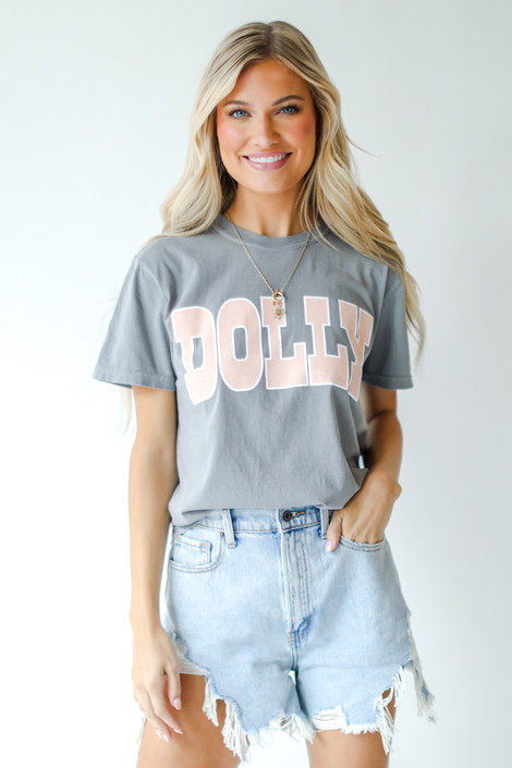 Grey - Dolly Graphic Tee