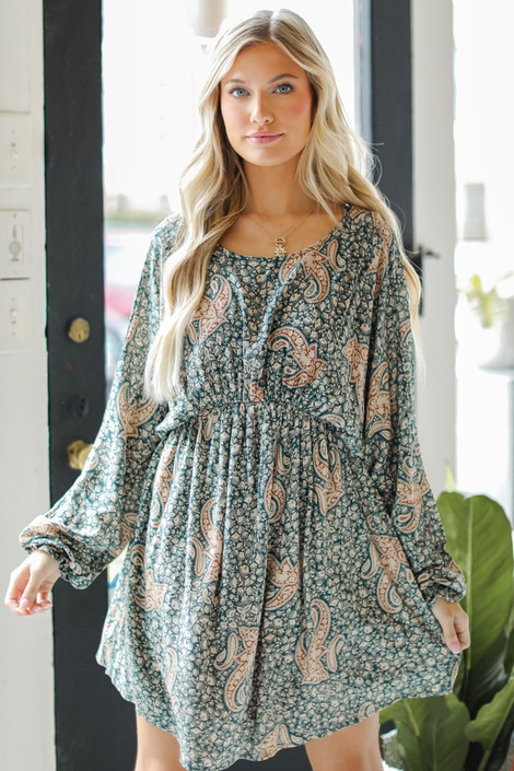 Teal - Paisley Dress from Dress Up