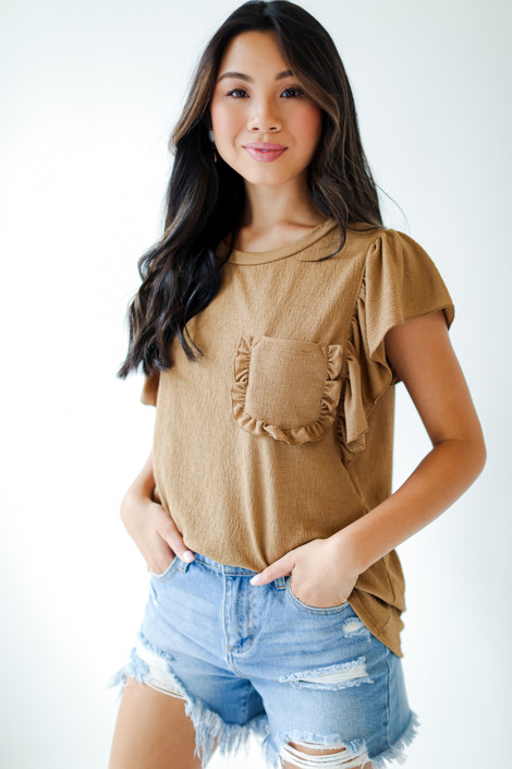Camel - Ruffle Blouse from Dress Up