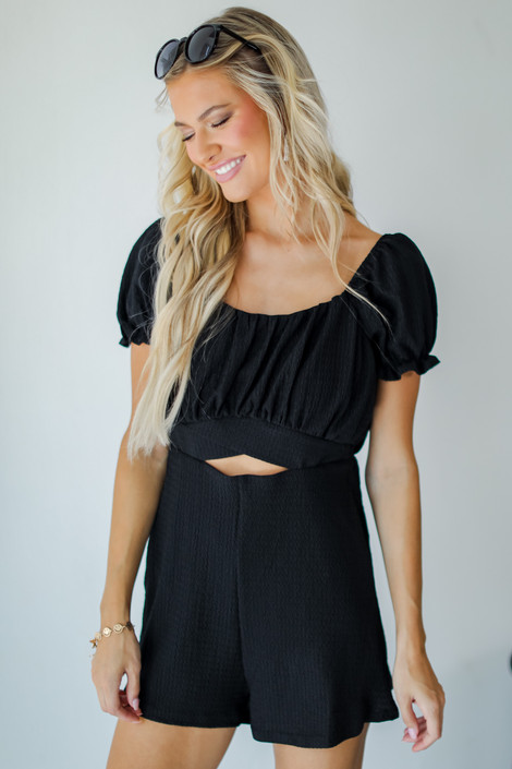 Black - Cutout Romper from Dress Up