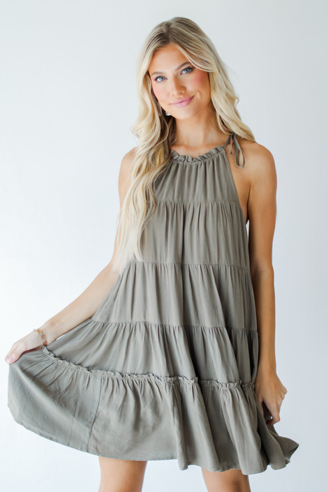 Olive - Tiered Dress