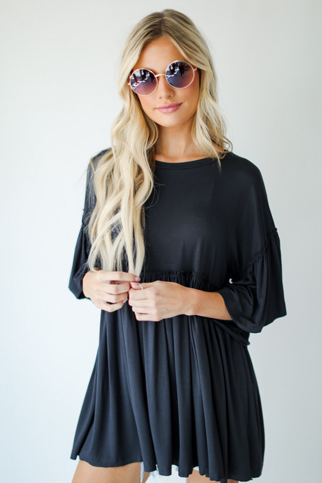 Charcoal - Oversized Babydoll Top from Dress Up