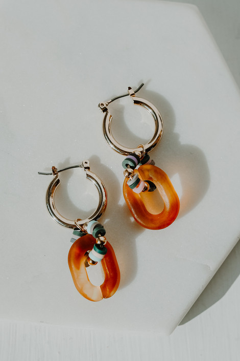 Gold - Statement Earrings from Dress Up