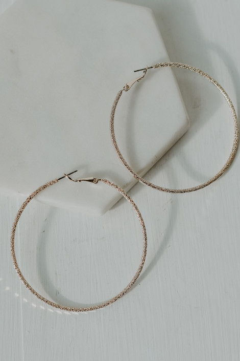 Gold - Textured Hoop Earrings from Dress Up