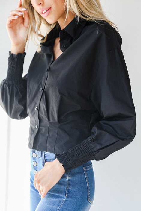 Black - Button-Up Blouse from Dress Up