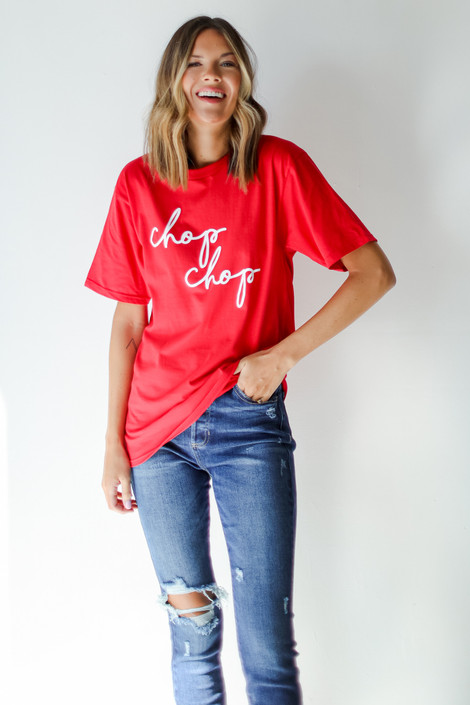 Red - Red Chop Chop Tee from Dress Up