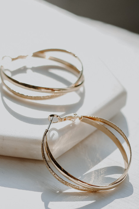 Gold - Double Hoop Earrings from Dress Up