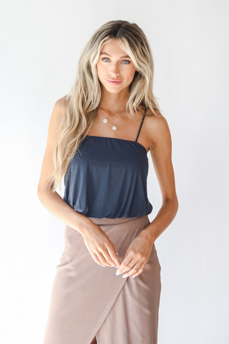 Navy - Cropped Tank from Dress Up